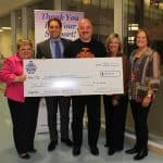 Presenting Cheque for Mackenzie Vaughan Hospital